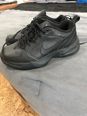Nike AIR MONARCH IV Mens Black 001 Comfort Lace Up Running Training Shoes.SIZE 9