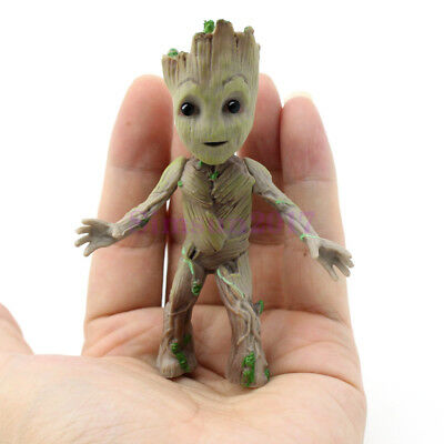 "US Ship Cute 3.5"" Guardians of The Galaxy Vol 2  Standing Groot Figure Toy Gift"