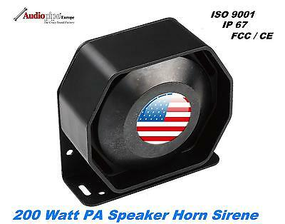 Universal 200W 12V Compact Lautsprecher PA System Horn Sirene Neo Driver