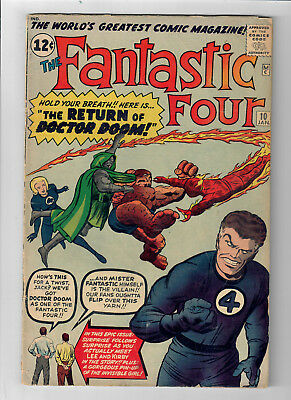 "FANTASTIC FOUR #10 - Grade 5.0 - ""The Return of Doctor Doom!"""