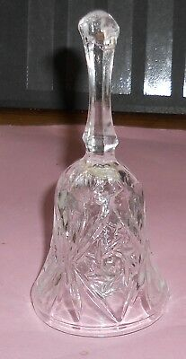 Vintage Glass Bell No Chips 12 Cm Tall