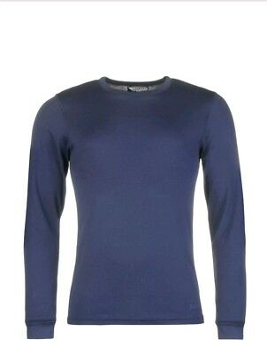 Campri Thermal Baselayer  Blue Top Mens TShirt Stretch Fit Long Sleeves Size XL