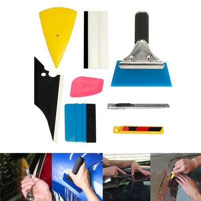 8 PCS Car Window Tint Wrapping Vinyl Tools Squeegee Scraper Applicator Kits USA