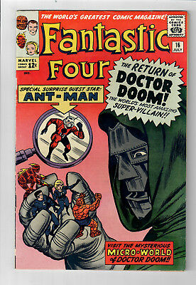FANTASTIC FOUR #16 - Grade 7.0 -  Ant-Man! Doctor Doom! Jack Kirby!