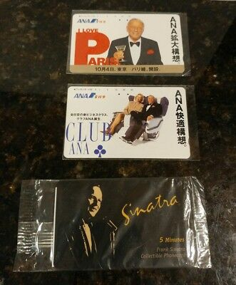 Lot of 3 Frank Sinatra Tribute Phone Cards