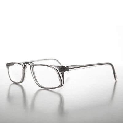Clear Classic Half-Frame Reading Glasses Vintage Diopter 1.75 - Annie