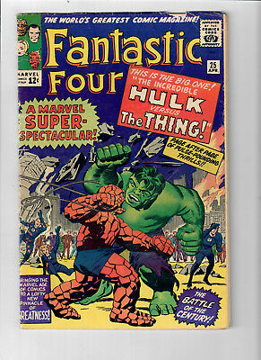 "FANTASTIC FOUR #25 - Grade 5.0 -  ""The Hulk vs. The Thing!"""