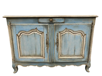 French Antique Louis XV Style Painted Buffet - 19th C