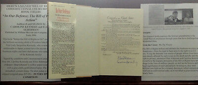 President Kennedy Japan Ambassador Daughter Caroline Constitution Signed Book !