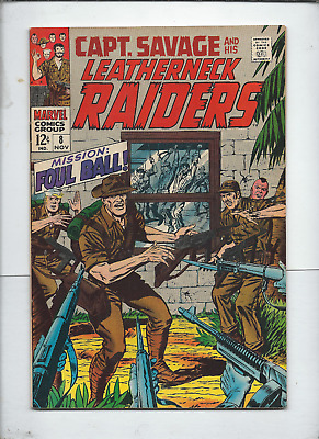 captan savage and his leatherneck raiders, 8-10, marvel comics.