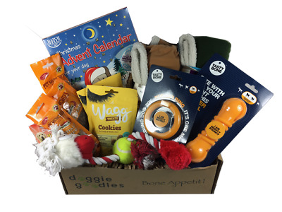 Doggie Goodies 🐾 Dog Treat Gift Box 🐶 Amazing Value Toys Chews Food Dogs