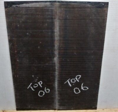 Ebony Guitar Tops  #06  Luthier Tonewood Book Matched Free Shipping