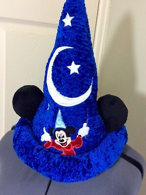 Authentic Disney Parks Mickey Mouse Fantasia Sorcerer Wizard Plush Ears Hat