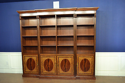 Leighton Hall Large Traditional Mahogany Bookcase