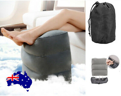 AU Inflatable Foot Rest Feet Air Pillow Xmas Travel Holiday Cushion Leg Footrest