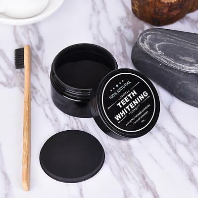 Activated Charcoal Teeth Whitening Organic Powder Carbon Coco+Toothbrush Kit