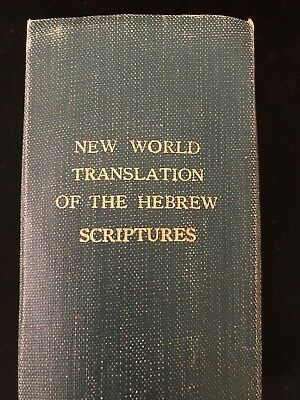Watchtower HEBREW SCRIPTURES NWT BOUND Jehovah's Witnesses