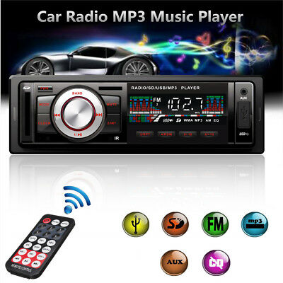 Car Vehicle Radio Stereo MP3 Music Player In-Dash FM USB SD AUX Input Receiver