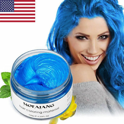 US Unisex DIY Hair Color Wax Mud Dye Cream Temporary Modeling 7 Colors Mofajang