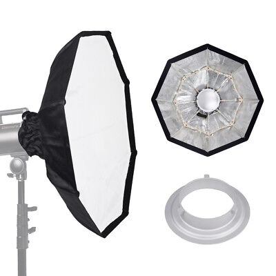 """70cm 27"""" SILVER Collapsible Beauty Dish Octagon Softbox for Bowens Godox Flash"""