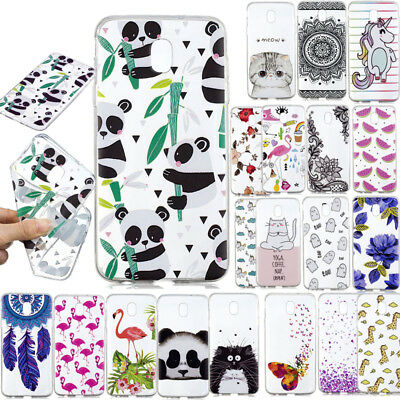 Clear Slim Patterned Soft Case Thin Silicone Cover For Samsung Galaxy J3 J7 2018