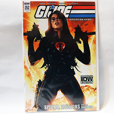 2018 SDCC GI Joe Real American Hero #252 IDW Convention Variant Adam Hughes
