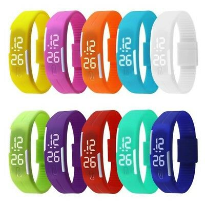 Unisex Touch Screen LED Digital Silicone Sport Watch Bracelet Wrist Watches Pop