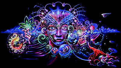 Famous Art Trippy Psychedelic Abstract Silk/Canvas Poster Prints Wall Painting