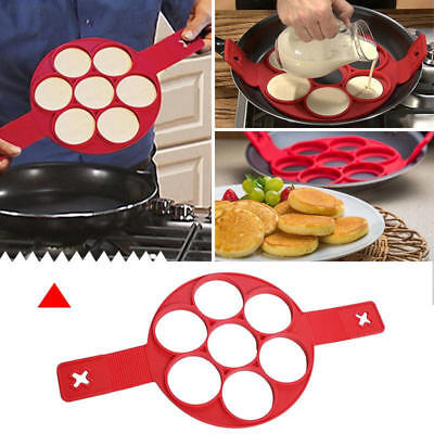 C282 Flippin' Fantastic Nonstick Pancake Maker Egg Ring Maker 535F