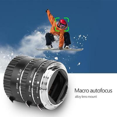 3pcs Auto Focus Macro Extension Tube Set Ring Lens Adapter for Canon DSLR Camera