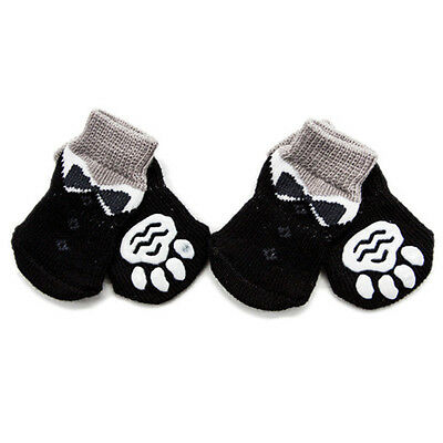4Pcs/Set Pet Puppy Dog Pooch Socks Cotton Anti-Slip tect Pets Paws Wa