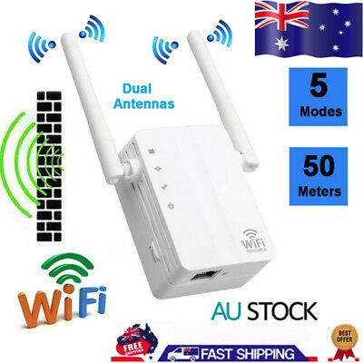 300Mbps Wireless-N Range Extender WiFi Repeater Booster Network Router 5 Modes