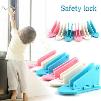 1/3X Kids Child Baby Safety Lock Proof Door Cupboard Fridge Cabinet Drawer DFK