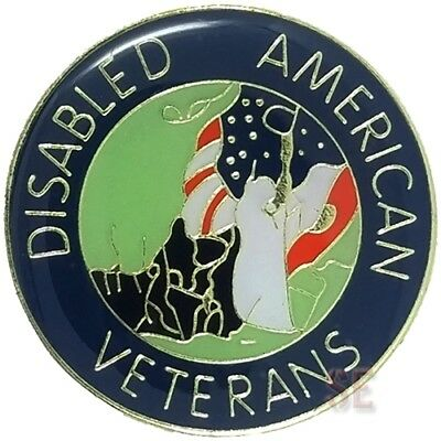 United States Military Lapel Pin DISABLED AMERICAN VETERANS for Biker Hat Vest 2