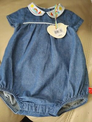 edfcade0252b LITTLE BIRD BY Jools Oliver Blue striped Dress 12-18 months