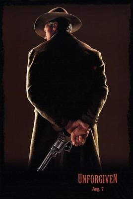 """UNFORGIVEN - 27""""x40"""" Original Movie Poster One Sheet 1992 ROLLED Clint Eastwood"""