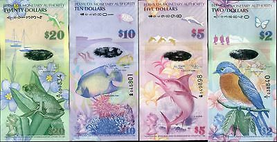 Bermuda Set 4 ; 2 5 10 20 Dollars 2009 (2013) P 57 58 59 60 A/1 Onion Prefix Unc