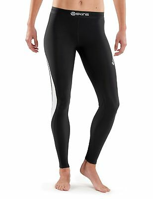 SKINS Women's Dnamic Thermal Compression Long Tights black/Cloud Small New