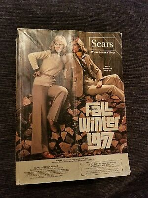 Vintage 1977 SEARS Roebuck and Co. Fall / Winter Catalog