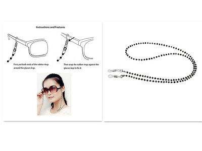 Glasses Chain - Crystal Glass Beaded  Spectacle Strap Cord Holder Neck Newest