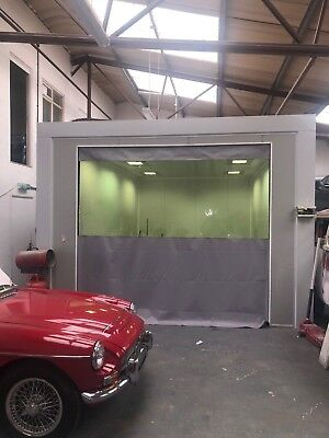 Grey Clear Heavy Duty Car Auto Body Sand Blasting Curtains Dividers 10 Ft X 9 Ft