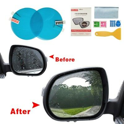 2Pcs Car Anti Water Mist Film Anti Fog Rainproof Rearview Mirror Protective Film