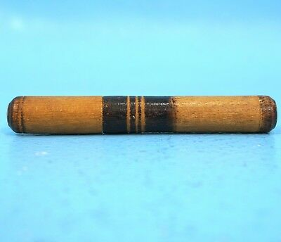 Antique German Black Forest Wood Carving NEEDLE HOLDER c1910 Sewing