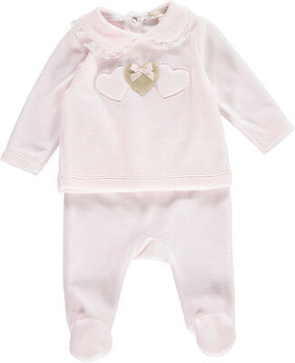 de6dfb784267 MINTINI BABY PINK And White Romper And Matching Hat For Up To 3 ...