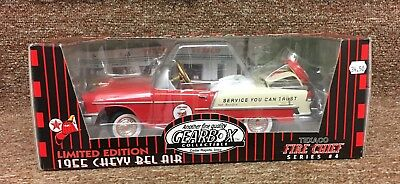 Gearbox Texaco Fire Chief 1955 Chevy Bel Air Diecast Metal Car No. 6810 Red NRFB
