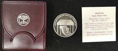1978 Proof Commemorative Silver Israeli Coin - .935 Silver Medal