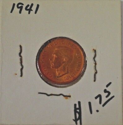 1941 Canadian 1 Cent Uncirculated