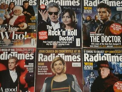 BBC Radio Times: Doctor Who 1 2 3 4 5 6 7 8 9 10 11 12 13  UK Exc.TV Guides Cult