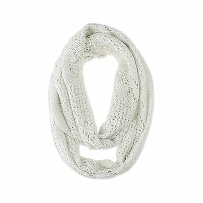 Cat & Jack Girls Pointelle Infinity Scarf Cream One Size