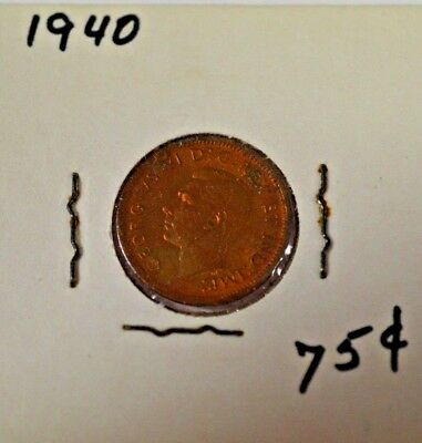 1940 Canadian 1 Cent Uncirculated